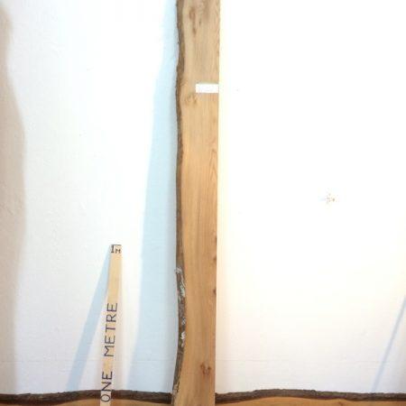 ELM 5.7cm thick - tree number 1216A Single Waney Natural Live Edge Slab Planed Hardwood Kiln Dried Seasoned Board Fireplace Mantel Shelf