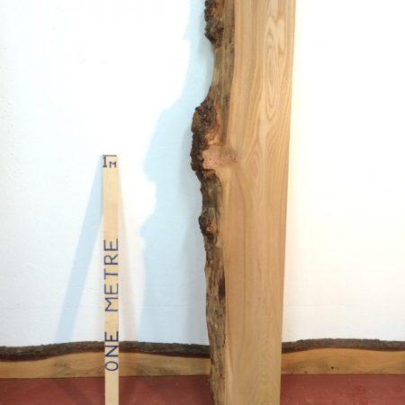 BURRY ELM 7cm thick - tree number 1118A Single Waney Natural Live Edge Slab Planed Hardwood Kiln Dried Seasoned Board Fireplace Mantel Shelf