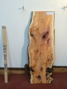 YEW 3cm thick - tree number 1361 Natural Waney Live Edge Slab Wood Board Kiln Dried Planed Seasoned Hardwood Wildwood Local Sustainable Timber