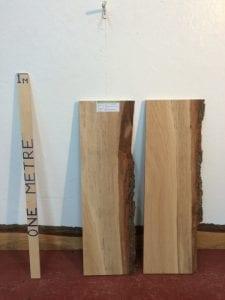 OAK 2.7cm thick - tree number 1306-19 Single Waney Natural Live Edge Slab Planed Hardwood Kiln Dried Seasoned Board Shelf