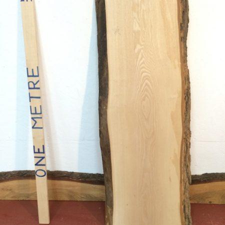 ASH 4.2cm thick - tree number 1346 Natural Waney Live Edge Slab Board Kiln Dried Planed Seasoned Hardwood