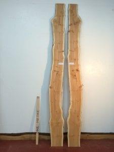 YEW 2.2cm thick - tree number 1421C Natural Waney Live Edge Slab Wood Board Kiln Dried Planed Seasoned Hardwood Wildwood