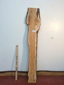 YEW 2.2cm thick - tree number 1421B Natural Waney Live Edge Slab Wood Board Kiln Dried Planed Seasoned Hardwood Wildwood