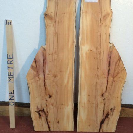 YEW 2.2cm thick - tree number 1423A Natural Waney Live Edge Slab Wood Board Kiln Dried Planed Seasoned Hardwood Wildwood