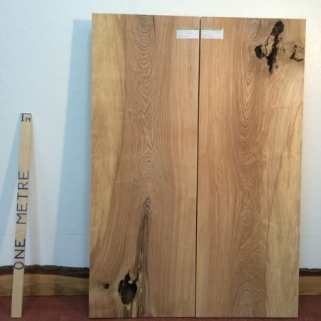 OLIVE ASH 4.5cm thick - tree number 1336 PAR Planed All Round Square Edge Kiln Dried Seasoned Hardwood Timber Board Table Top Bookmatched Set