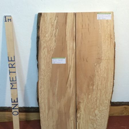 BEECH 4.2cm thick - tree number 1274 Natural Waney Live Edge Slab Wood Board Kiln Dried Planed Seasoned Hardwood Table Top