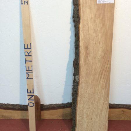 BEECH 4.5cm thick - tree number 1274 Single Waney Natural Live Edge Slab Planed Hardwood Kiln Dried Seasoned Board Fireplace Mantel Shelf