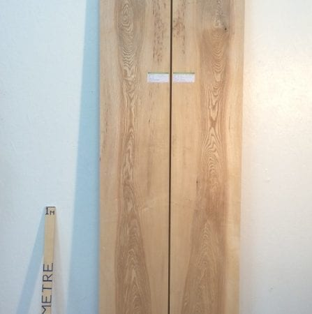 OLIVE ASH 4.2cm thick - tree number 1337 PAR Planed All Round Square Edge Kiln Dried Seasoned Hardwood Timber Board Table Top Bookmatched Set