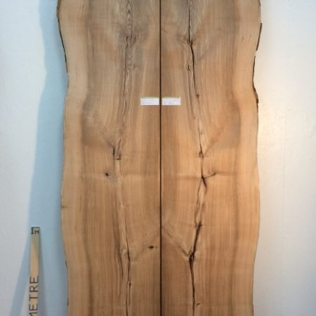 OLIVE ASH 5.5cm thick - tree number 1257B Natural Waney Live Edge Slab Wood Board Kiln Dried Planed Seasoned Hardwood Table Top Bookmatched Set