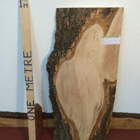 OLIVE ASH 5.5cm thick - tree number 1257B Natural Waney Live Edge Slab Wood Board Kiln Dried Planed Seasoned Hardwood Wildwood
