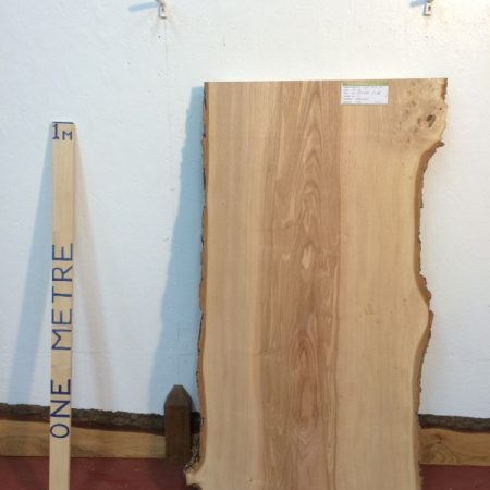 ASH 5.2cm thick - tree number 1242B Natural Waney Live Edge Slab Wood Board Kiln Dried Planed Seasoned Hardwood
