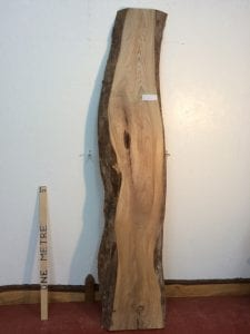 ELM 5.2cm thick - tree number 1254 Natural Waney Live Edge Slab Board Kiln Dried Planed Seasoned Hardwood
