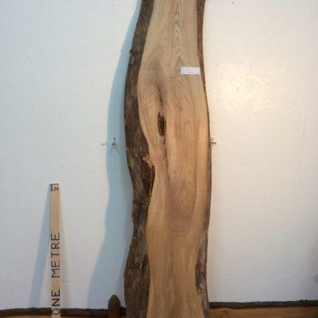 ELM 5.2cm thick - tree number 1254 Natural Waney Live Edge Slab Board Kiln Dried Planed Seasoned Hardwood
