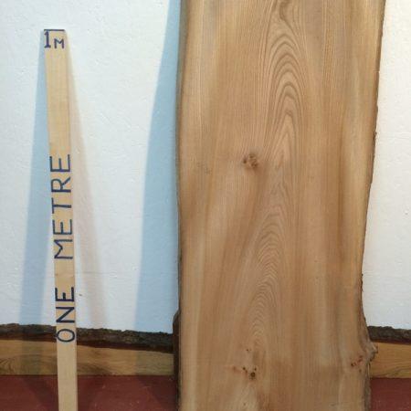 OAK 2.8cm thick - tree number 1395 Single Waney Natural Live Edge Slab Planed Hardwood Kiln Dried Seasoned Board