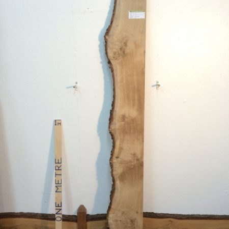 BURRY OAK 2.8cm thick - tree number 1395 Single Waney Natural Live Edge Slab Planed Hardwood Kiln Dried Seasoned Board