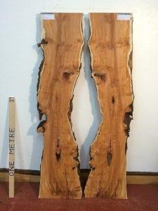 BURRY YEW 2.2cm thick - tree number 1532A Natural Waney Live Edge Slab Wood Board Kiln Dried Planed Seasoned Hardwood Wildwood