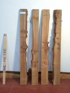 BURRY ELM 3cm thick - tree number 1503 Single Waney Natural Live Edge Slab Planed Hardwood Kiln Dried Seasoned Board