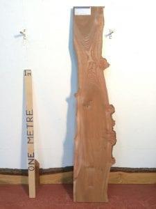 BURRY ELM 3cm thick - tree number 1480B Single Waney Natural Live Edge Slab Planed Hardwood Kiln Dried Seasoned Board