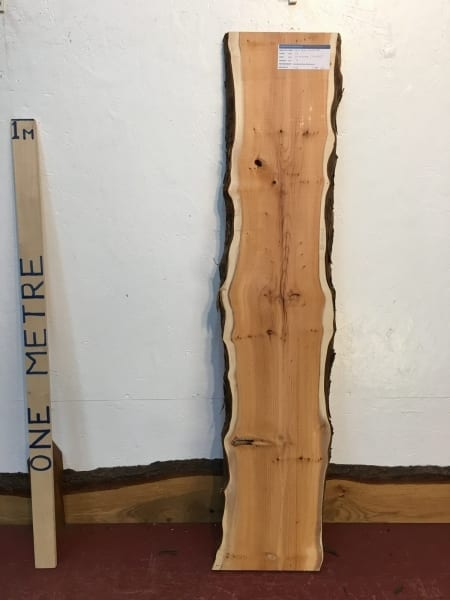 YEW 3cm thick - tree number 1447A Natural Waney Live Edge Slab Wood Board Kiln Dried Planed Seasoned Hardwood