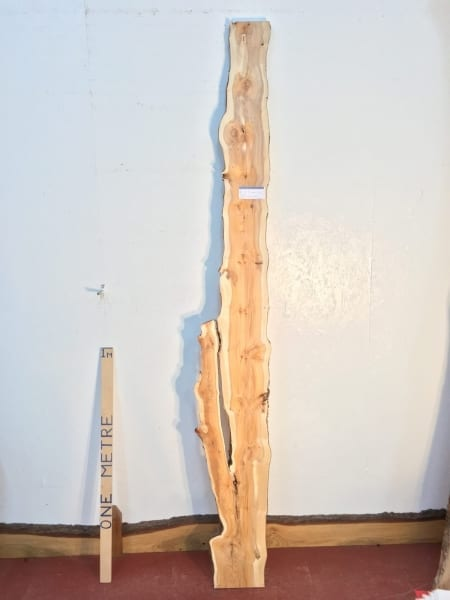 YEW 3.2cm thick - tree number 1453F Natural Waney Live Edge Slab Wood Board Kiln Dried Planed Seasoned Hardwood