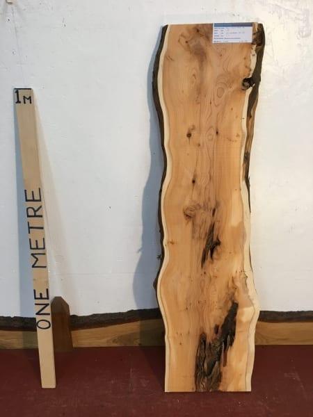 YEW 3.2cm thick - tree number 1460 Natural Waney Live Edge Slab Wood Board Kiln Dried Planed Seasoned Hardwood Wildwood