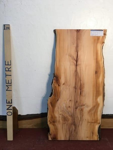 PIPPY YEW 3cm thick - tree number 1519 Natural Waney Live Edge Slab Wood Board Kiln Dried Planed Seasoned Hardwood Wildwood