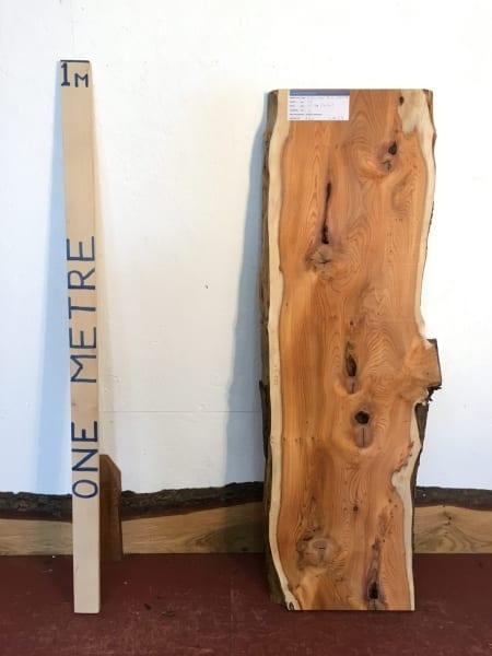 PIPPY YEW 3cm thick - tree number 1528 Natural Waney Live Edge Slab Wood Board Kiln Dried Planed Seasoned Hardwood Wildwood