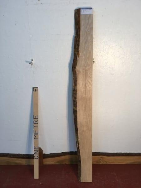 OAK 1122B-8 Single Waney Natural Live Edge Slab Board thickness 4.2cm Planed Kiln Dried Seasoned Hardwood
