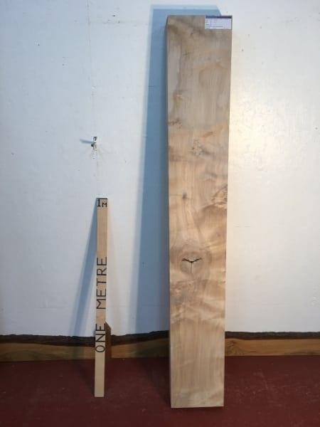 MAPLE 1303-1 PAR Planed All Round Square Edge Kiln Dried Seasoned Hardwood Timber Board Thickness 11.5cm Fireplace Mantel Shelf