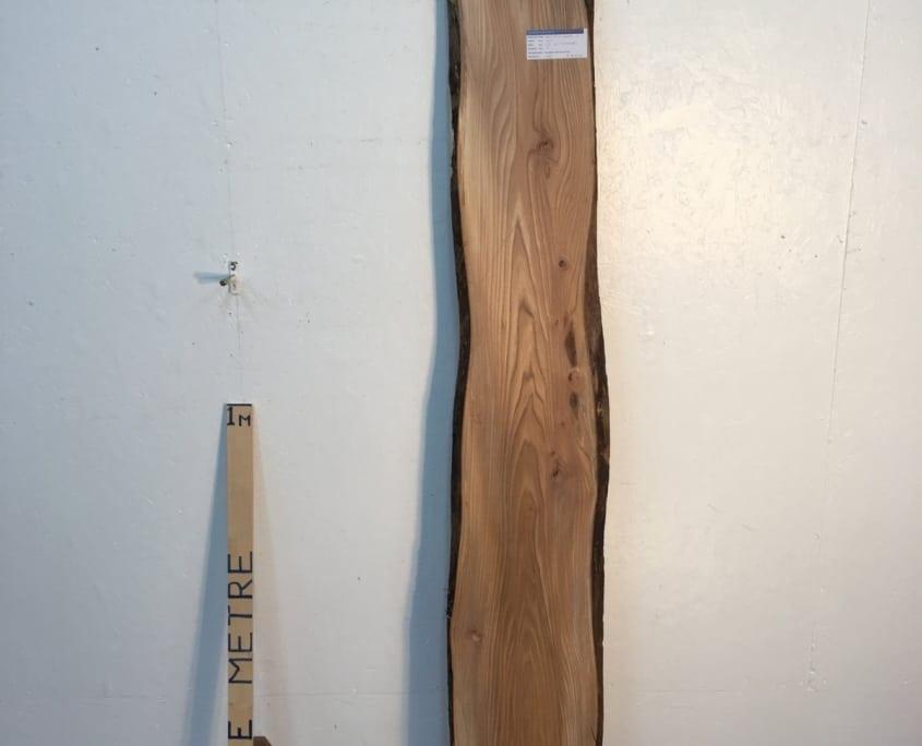 ELM 1502A-1 Natural Waney Live Edge Slab Wood Board Thickness 3cm Kiln Dried Planed Seasoned Hardwood