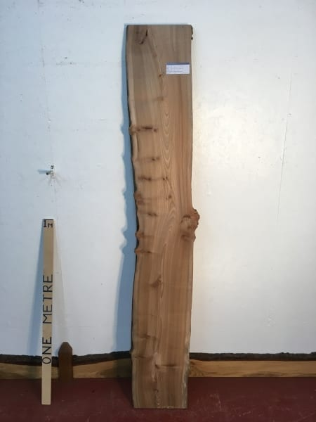ELM 1505B-3 Natural Waney Live Edge Slab Wood Board 3cm thick Kiln Dried Planed Seasoned Hardwood