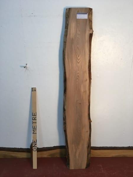 ELM 1496A-1 Natural Waney Live Edge Slab Wood Board Thickness 3cm Kiln Dried Planed Seasoned Hardwood