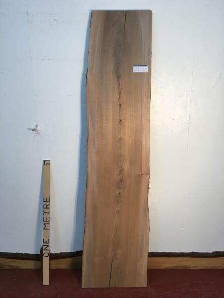 ELM 1496B-5 Natural Waney Live Edge Slab Wood Board 3cm thick Kiln Dried Planed Seasoned Hardwood