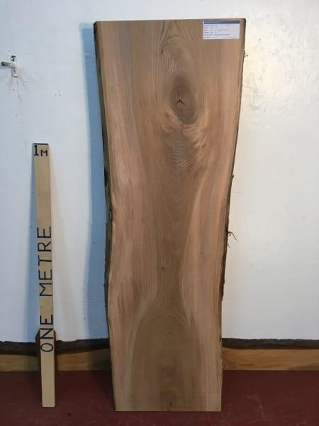 ELM 1496B-3 Natural Waney Live Edge Slab Wood Board 3cm thick Kiln Dried Planed Seasoned Hardwood Coffee Tabletop