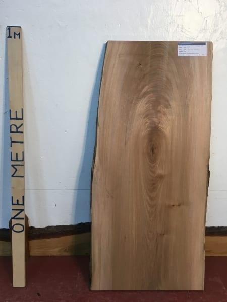 ELM 1496B-6B Natural Waney Live Edge Slab Wood Board 3cm thick Kiln Dried Planed Seasoned Hardwood Coffee Tabletop Offcut