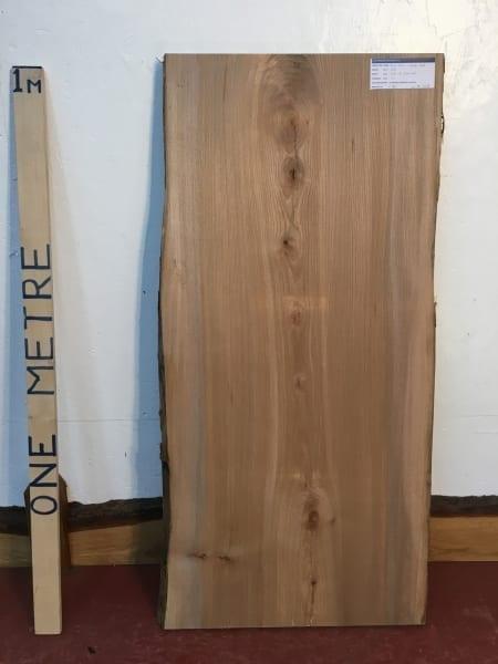 ELM 1496B-4A Natural Waney Live Edge Slab Wood Board 3cm thick Kiln Dried Planed Seasoned Hardwood Coffee Tabletop Offcut