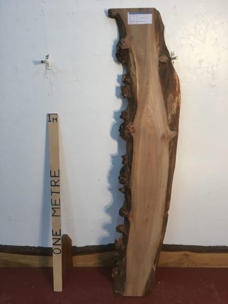 BURRY ELM 1475B-1 Natural Waney Live Edge Slab Planed Hardwood Kiln Dried Seasoned Board 4.5cm thick Wildwood Offcut