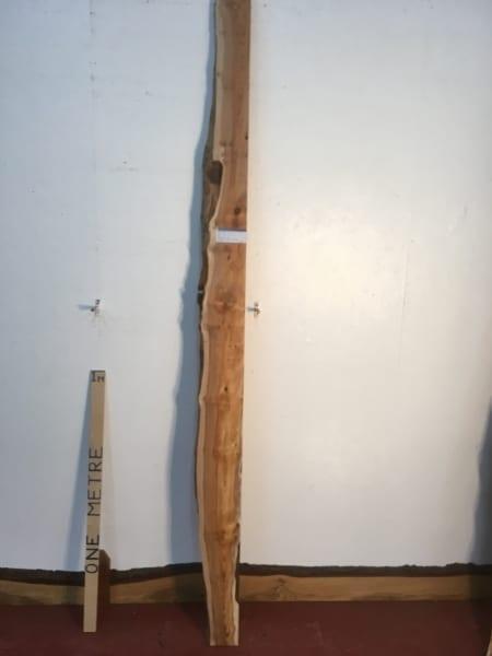 YEW 1457A-4 Single Waney Natural Live Edge Slab Planed Hardwood Kiln Dried Seasoned Board Shelf River Mirrors