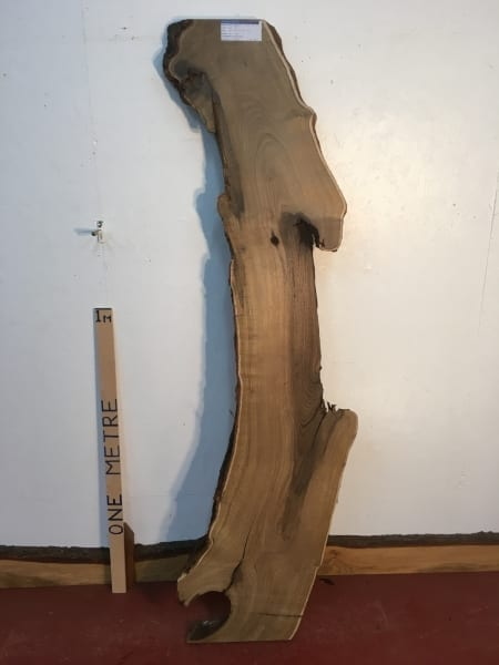 LABURNUM 1321-5 Natural Waney Live Edge Slab Wood Board thickness 4.8cm Kiln Dried Planed Seasoned Hardwood Wildwood