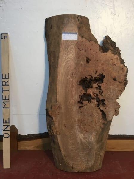BURR ELM 1536B-1 Natural Waney Live Edge Slab Wood Board 7cm thick Kiln Dried Planed Seasoned Hardwood Coffee Tabletop Offcut Wildwood