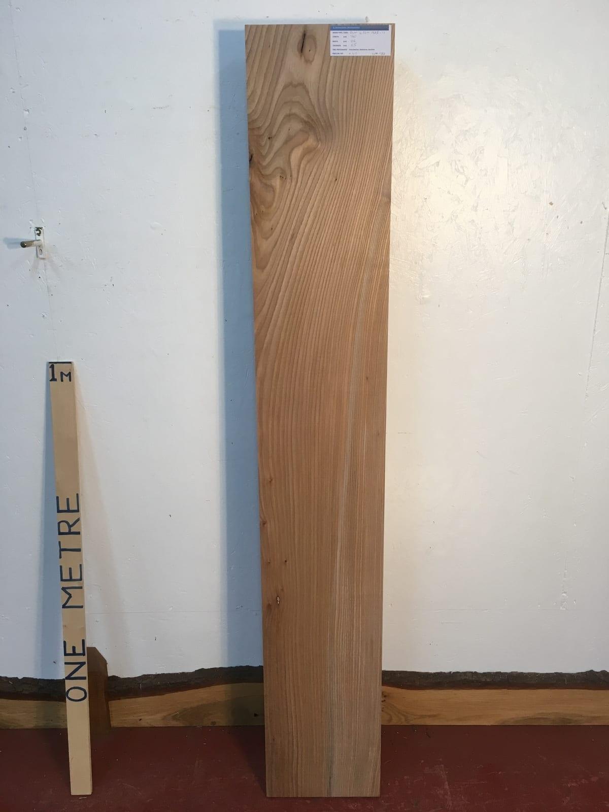 ELM 1385-1 PAR Planed All Round Square Edge Kiln Dried Seasoned Hardwood Timber Board Thickness 6.5cm Shelf Mantel