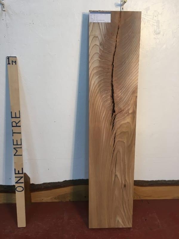 ELM 1385-3 PAR Planed All Round Square Edge Kiln Dried Seasoned Hardwood Timber Board Thickness 6.5cm Wildwood