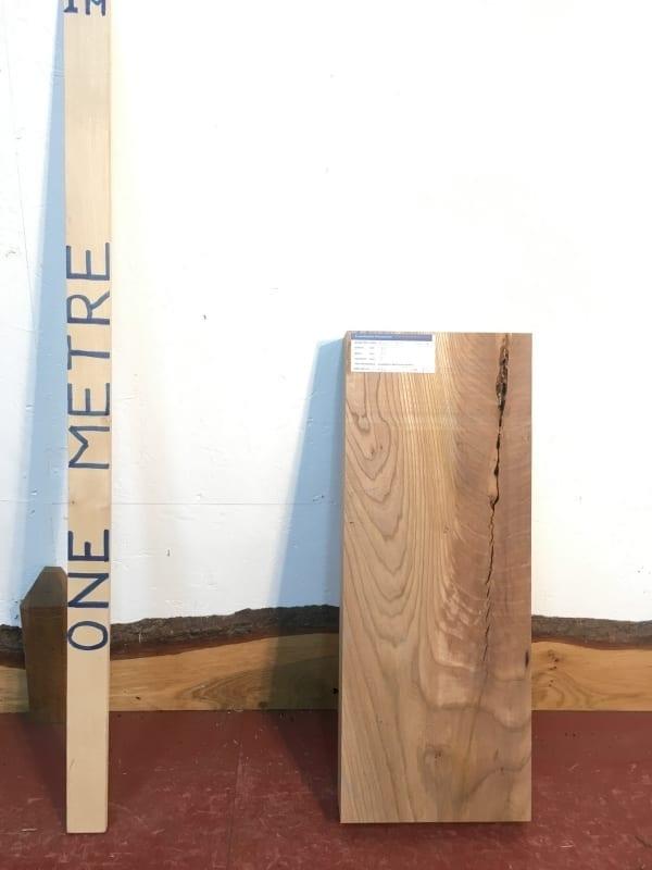ELM 1385-6B PAR Planed All Round Square Edge Kiln Dried Seasoned Hardwood Timber Offcut Board Thickness 7cm Wildwood