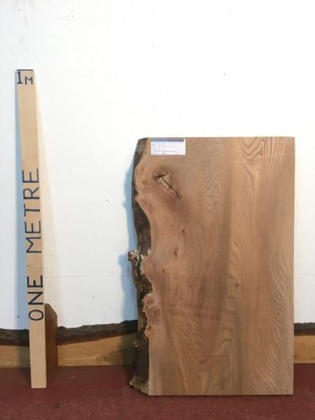 ELM 1476-7B Natural Waney Live Edge Slab Planed Hardwood Kiln Dried Seasoned Board 4.5cm Thick Offcut