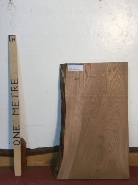 ELM 1476-7C Natural Waney Live Edge Slab Planed Hardwood Kiln Dried Seasoned Board 4.5cm Thick Offcut
