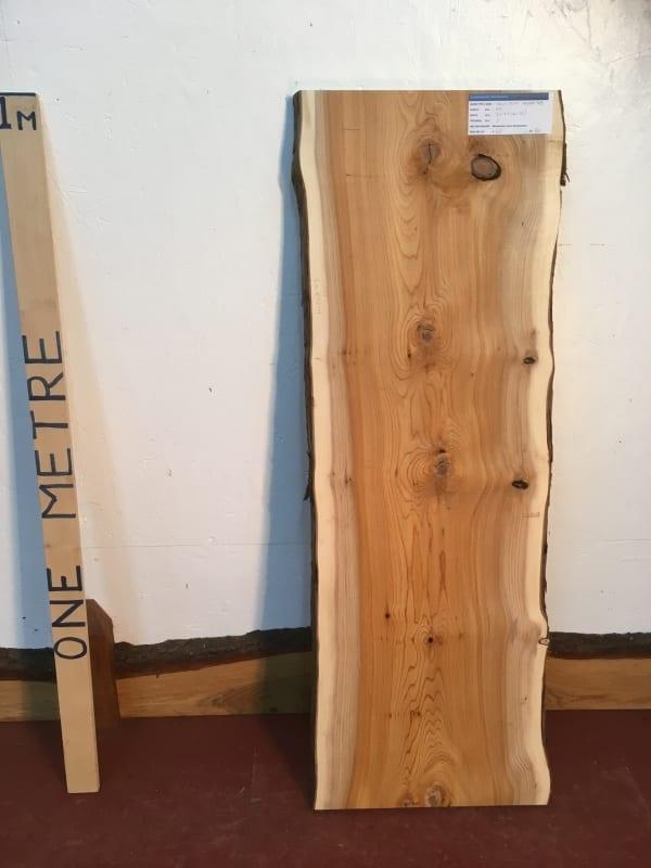 YEW 1426A-4B Natural Waney Live Edge Slab Wood Board thickness 3cm Kiln Dried Planed Seasoned Hardwood