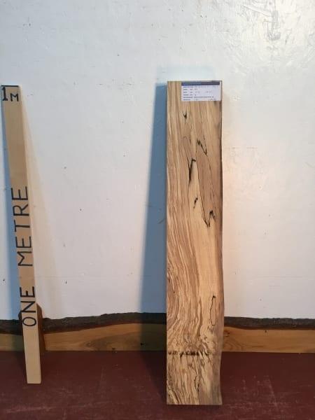 SPALTED BEECH Single Waney Natural Live Edge Board 1382-7