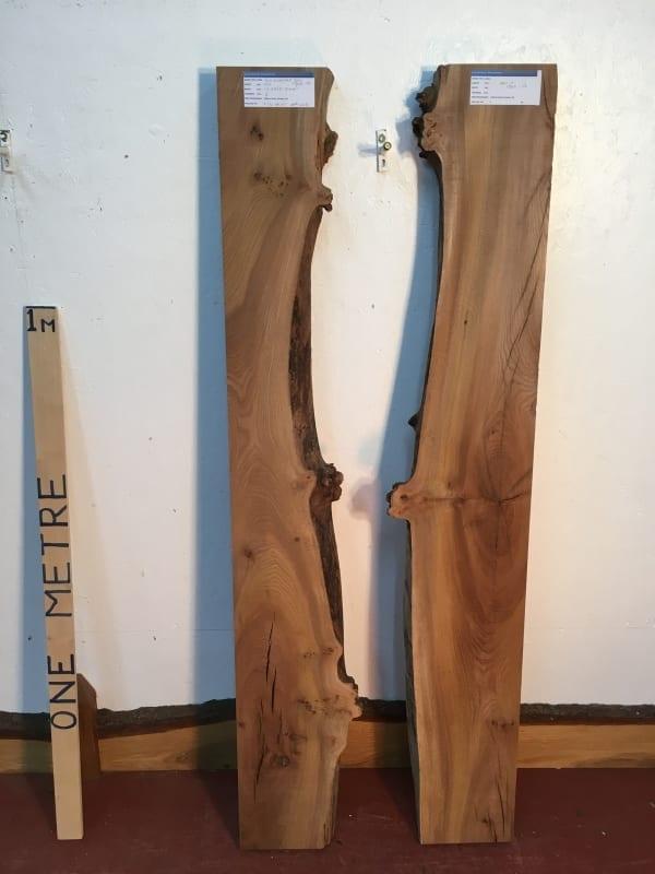 ELM RIVER SET Single Waney Natural Live Edge Boards 1536O-1/2