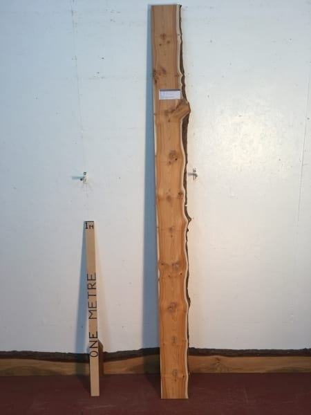 YEW Single Waney Natural Live Edge Board 1428C-3