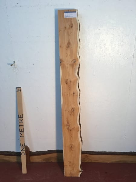 YEW Single Waney Natural Live Edge Board 1443C-2